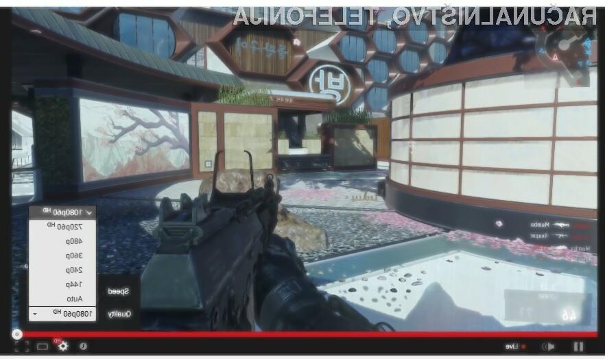 YouTube bo omogočil pretakanje video vsebin med igranjem iger do ločljivosti 1.920 x 1.080 slikovnih točk in 60 sličic na sekundo.