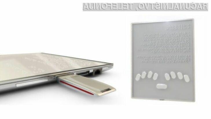 Novi elektronski pripomoček bo slepim in slabovidnim omogočil uporabo tabličnega računalnika!