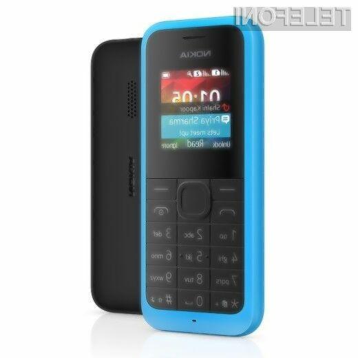 Mobilnik Nokia 105 je namenjen predvsem manj zahtevnim uporabnikom storitev mobilne telefonije.