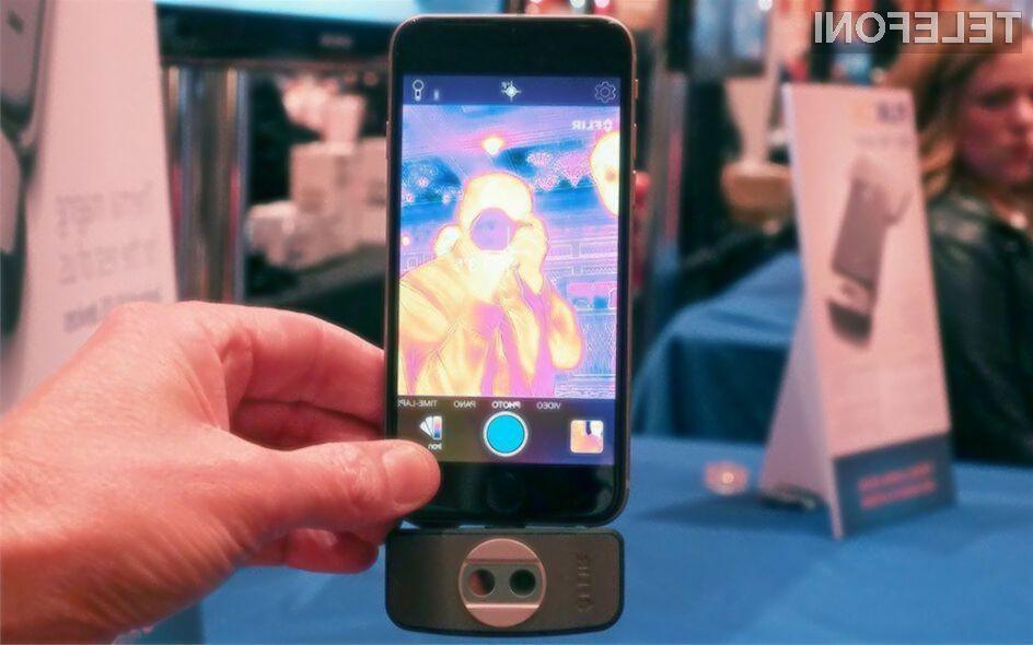 Naprava FLIR One naš priljubljeni mobilnik spremeni v toplotno kamero.