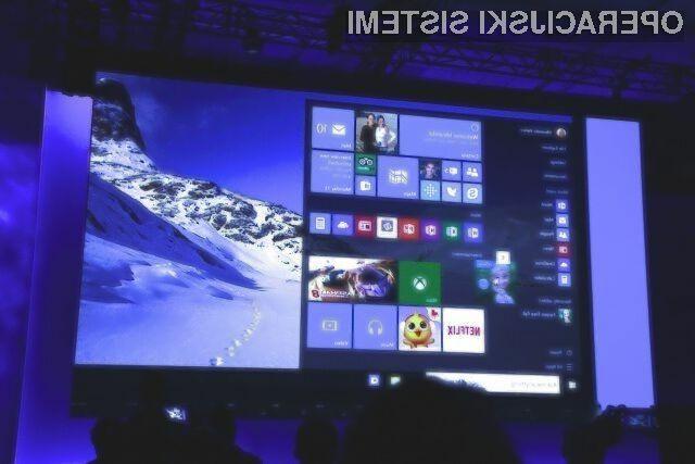 Za osnovno različico Windowsa 10 po potrebno odšteti evrskega stotaka.