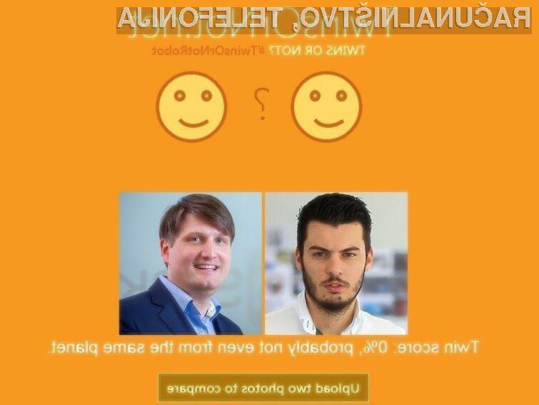 Microsoft Twins or Not s precej veliko natančnostjo razbere povezanost oseb na fotografijah.