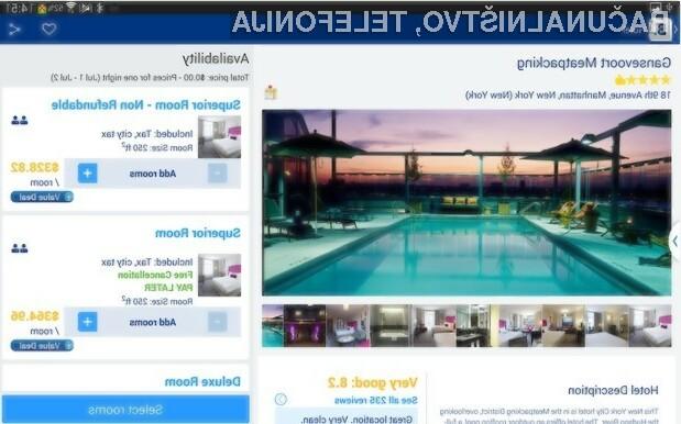 Z mobilno aplikacijo Booking.com za Android bomo takoj našli želen hotel!