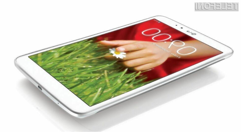 Tablični računalnik LG G Pad 2 bo nared za prodajo oktobra letos!