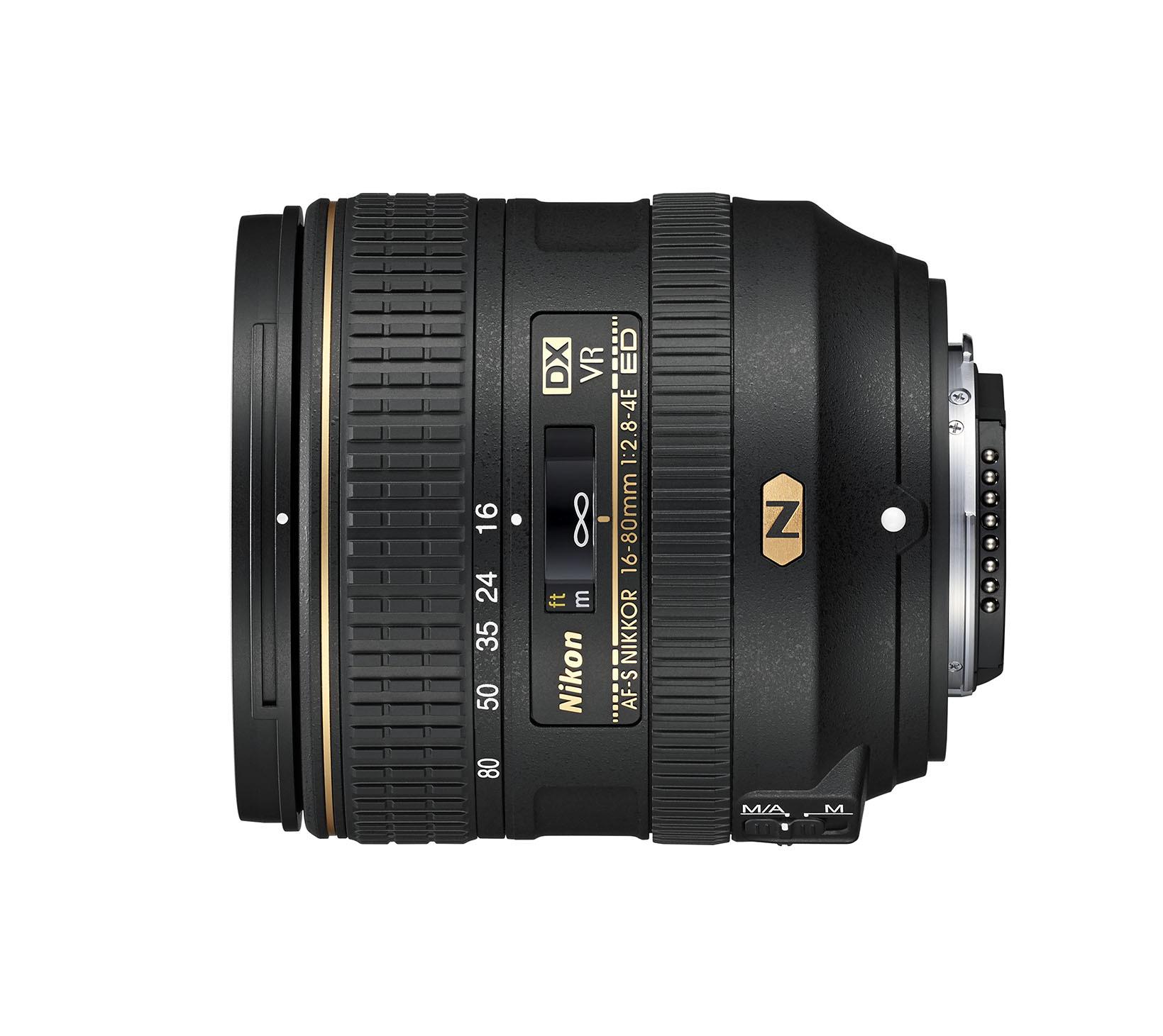 AF-S DX NIKKOR 16–80 mm f/2.8–4E ED VR
