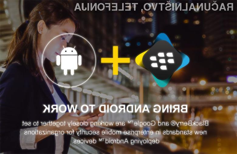 BlackBerry bo poskrbel za večjo varnost uporabnikov mobilnih naprav Android!