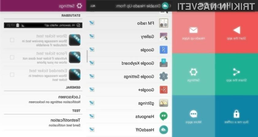 Mobilna programska oprema HeadsOff nam bo polepšala uporabniško izkušnjo na Androidu 5.0 Lollipop.