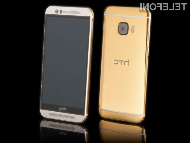 S pozlačenim mobilnikom HTC One M9 zagotovo ne boste ostali neopaženi!