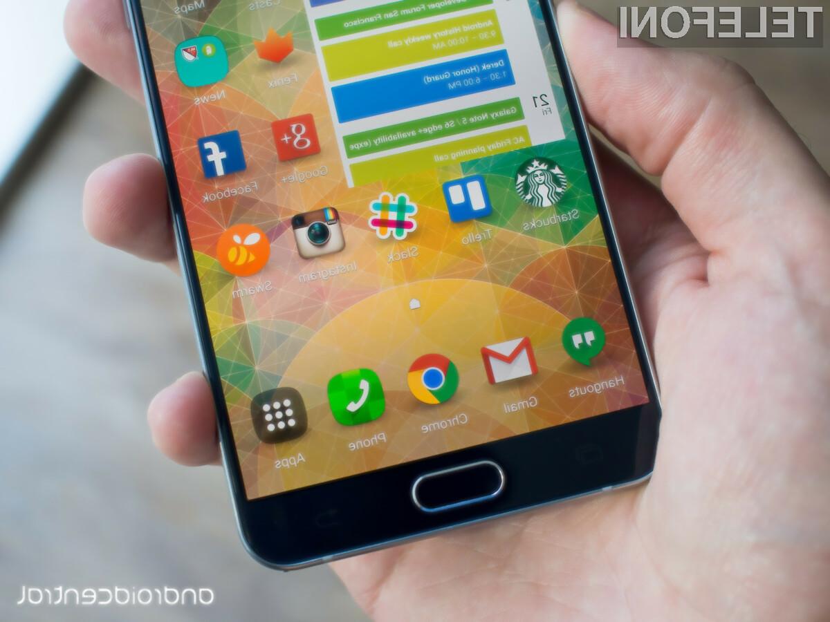 Samsung Galaxy Note 5 je trenutno opremljen z najkakovostnejšim zaslonom.