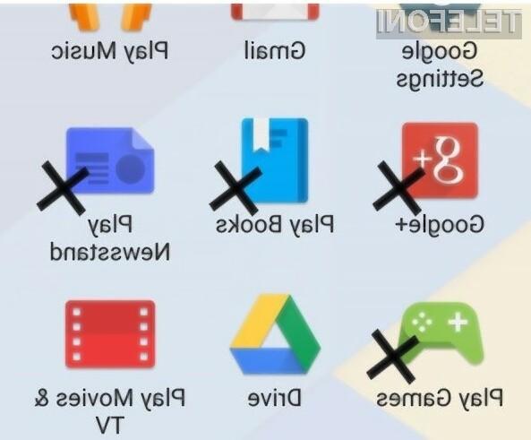 Google je zmanjšal število aplikacij, ki morajo biti privzeto nameščene skupaj z Androidom!