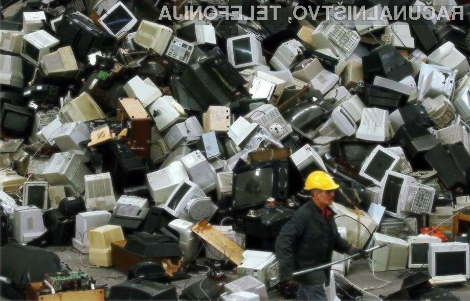 Odslužene računalniške komponente razvitih držav še vedno množično končajo na nelegalnih odlagališčih!