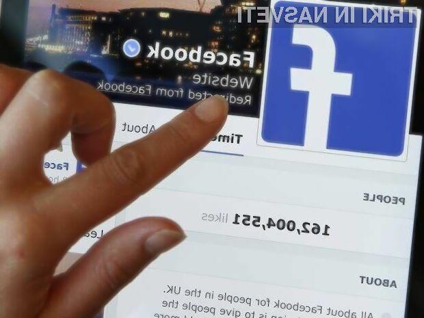 Profilne slike bodo na Facebooku kmalu postale tudi začasne.
