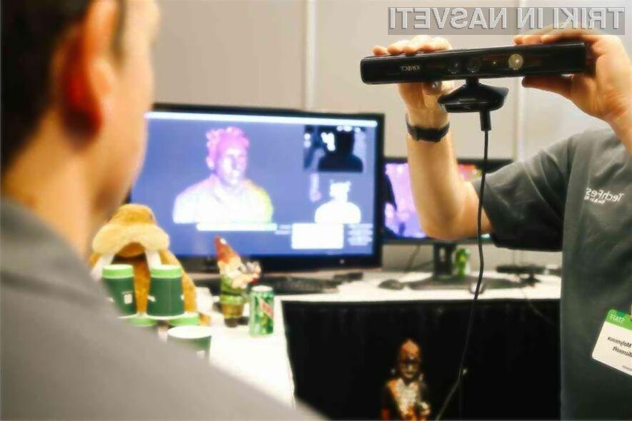 Microsoftov krmilni sistem Kinect naj bi olajšal zajem predmetov za tridimenzionalno tiskanje.