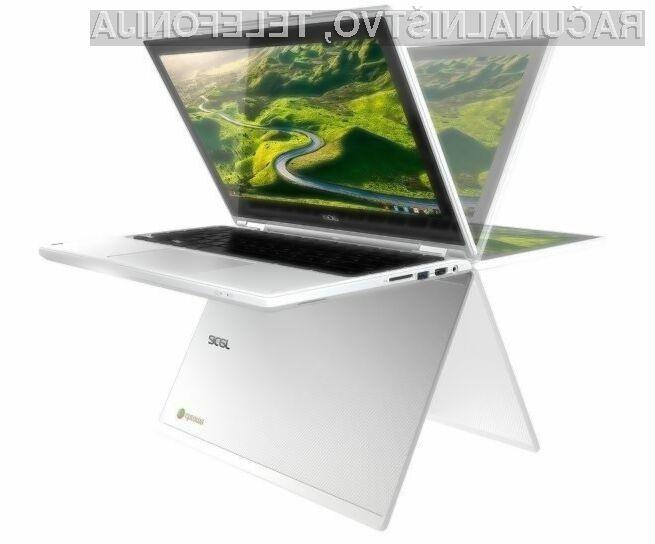 Acer R11 Chromebook lahko uporabljamo tako v vlogi prenosnika kot tablice!