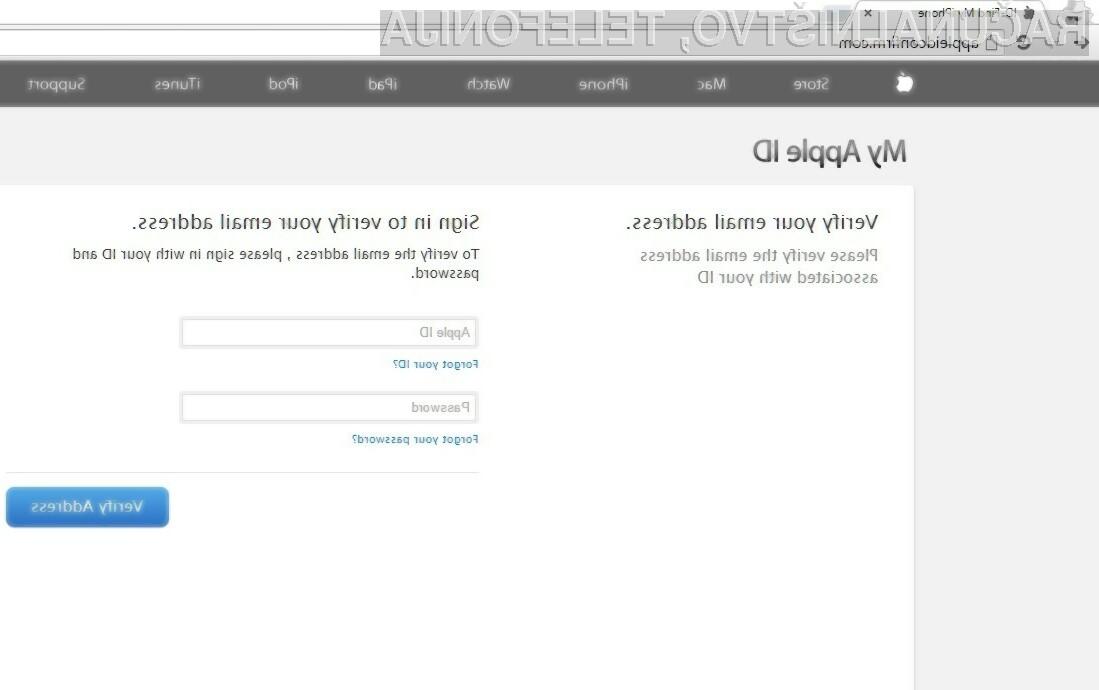 Lažne Applove spletne strani mrgolijo na spletu!