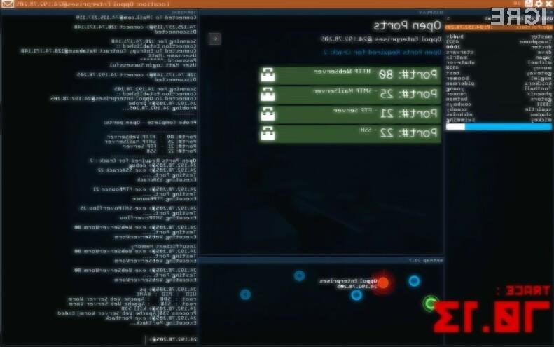 Računalniška igra Hacknet je odlična tudi za spoznavanje načino zaščite operacijskih sistemov Linux in UNIX.