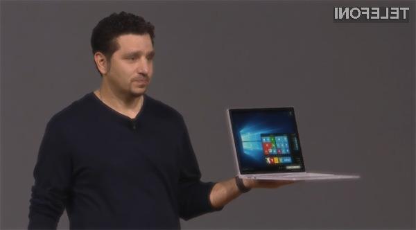 Microsoft Surface Book je kar dvakrat bolj zmogljiv od Applovega kompaktnega prenosnika MacBook Pro,