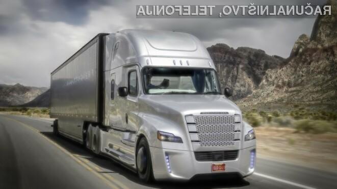 Prvi samovozeči tovornjak na svetu je preizkus na javnih cestah opravil z odliko!