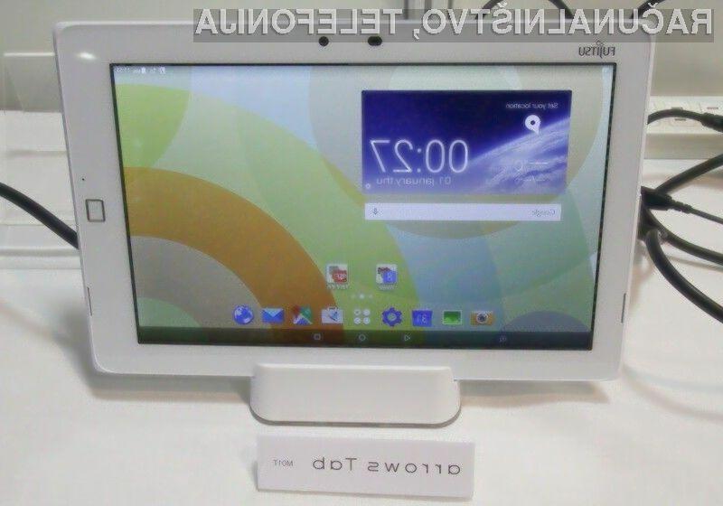 Tablica Fujitsu Arrows Tab M01T je vodotesna in odporna proti prašnim delcem.