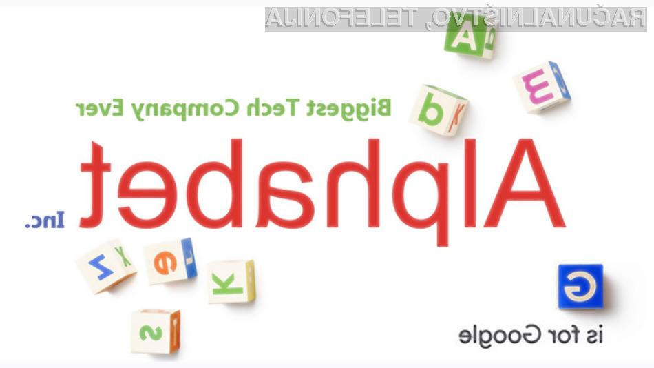 Podjetje Alphabet je uradno pričelo s poslovanjem!