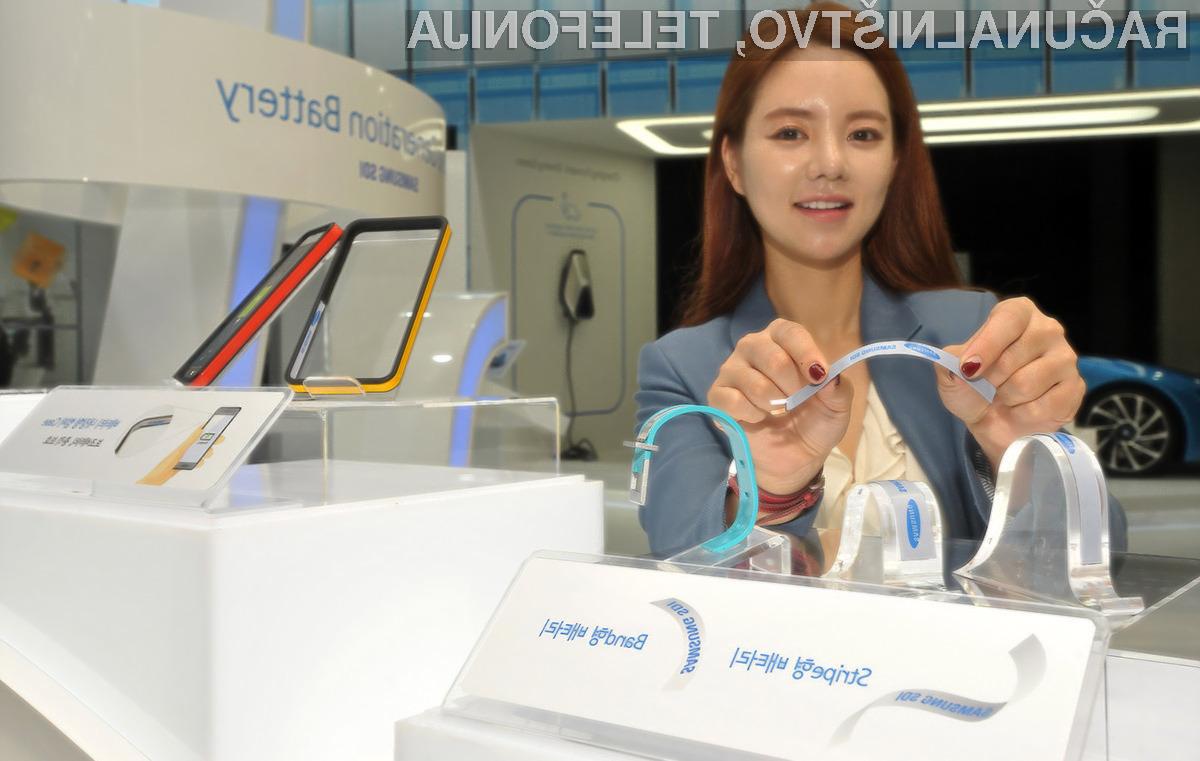 Upogljiva baterije podjetja Samsung obetajo izdelke nosljive elektronike povsem nenavadnih oblik.