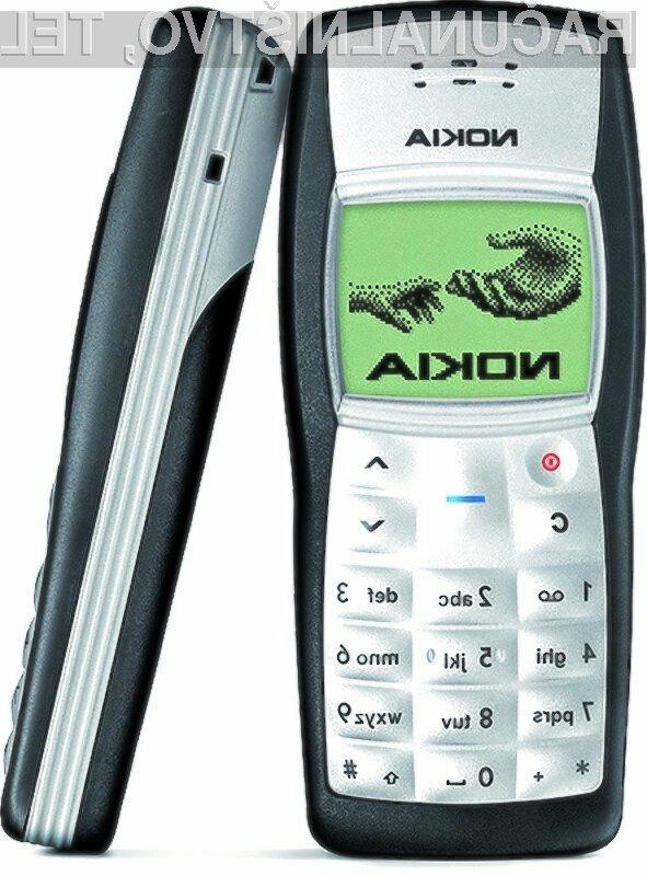Največ uporabnikov storitev mobilne telefonije uporablja mobilnik Nokia 1100.