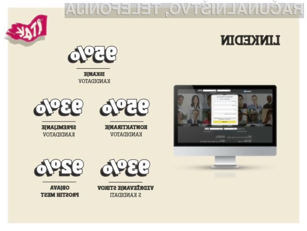 Uporaba LinkedIna s strani delodajalcev.
