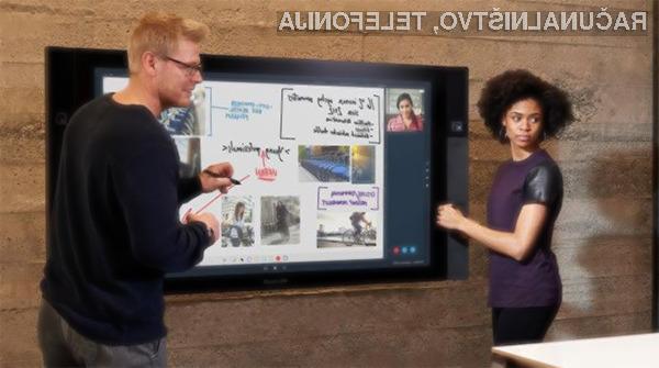 Gigantske tablice Microosft Sufrace Hub so namenjene predvsem izobraževalnim ustanovam in podjetjem.