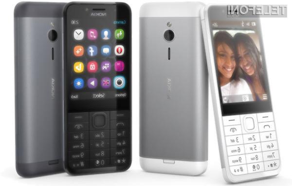 Microsoft Nokia 230 združuje klasiko in prestiž!