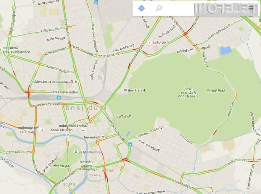 Prometne informacije v Google Maps bodo kmalu dosegljive tudi za večja slovenska mesta.