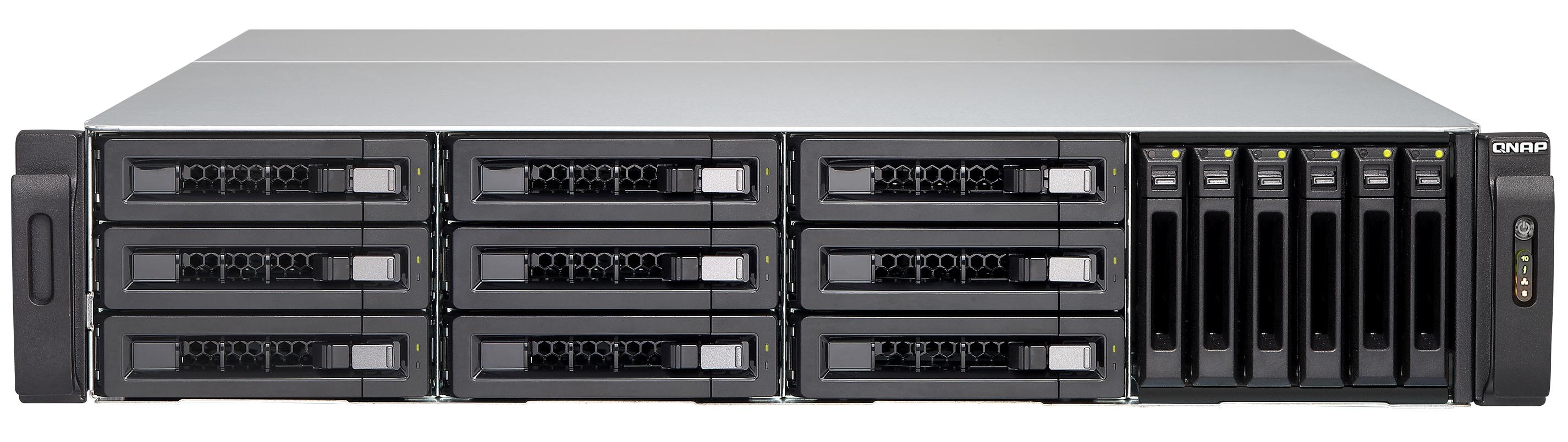 Novi Qnap TVS-EC1580MU-SAS-RP omogoča vgradnjo 15 SATA/SAS/SSD diskov.
