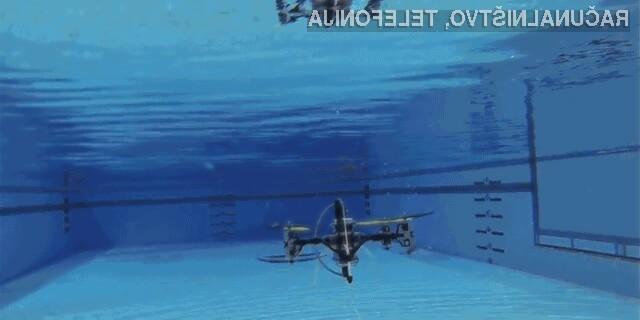 Naprava, ki je leteči dron in podmornica v enem, vsaj zaenkrat obeta veliko.