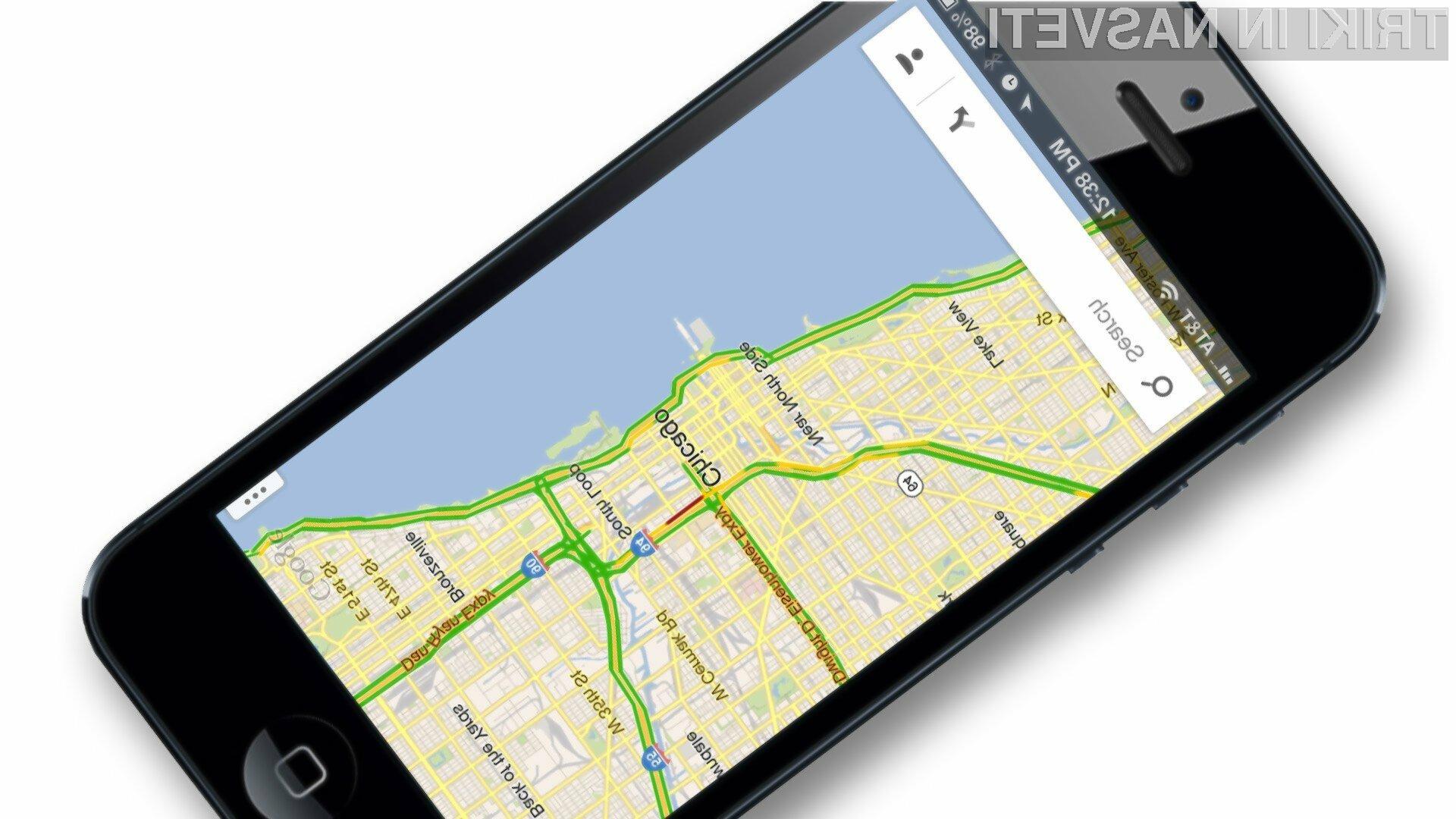 Novi mobilni Google Maps lahko v polni meri uporabljamo tudi brez povezave na svetovni splet.