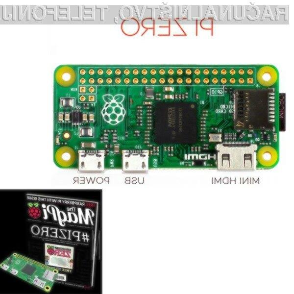 Osebni računalnik Raspberry Pi Zero je na GearBestu na voljo že za 16 evrov.