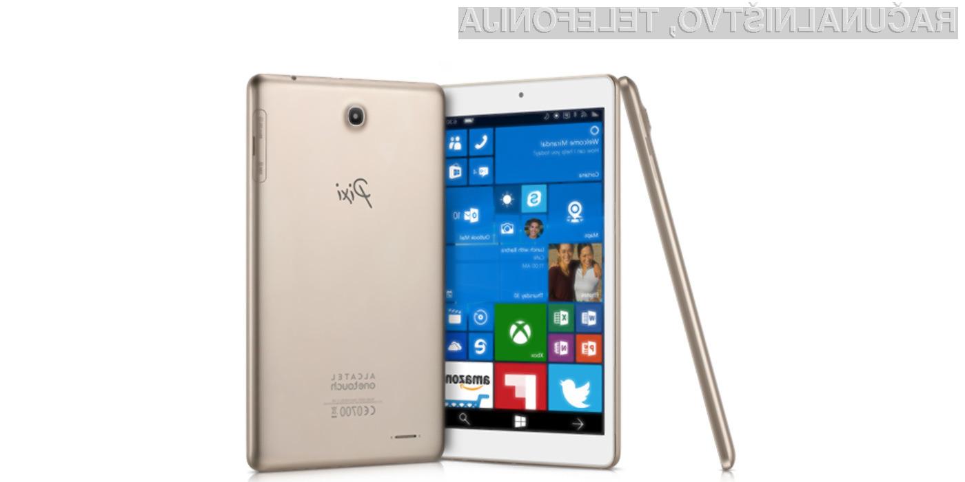 Tablični računalnik Alcatel OneTouch Pixi 3 z operacijskim sistemom Windows 10 Mobile bo zlahka kos tudi najzahtevnejšim nalogam.