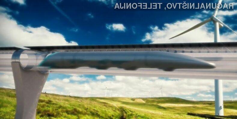 Koncept vozila prihodnosti Hyperloop obeta veliko.