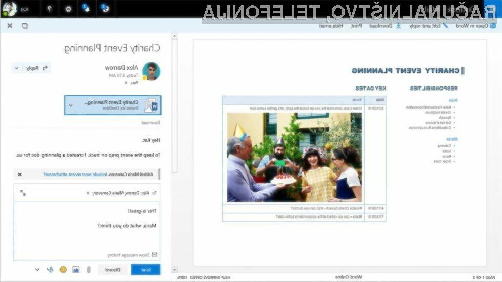 Novi Outlook.com je še tesneje povezan z oblačnim pisarniškim paketom Office 365!