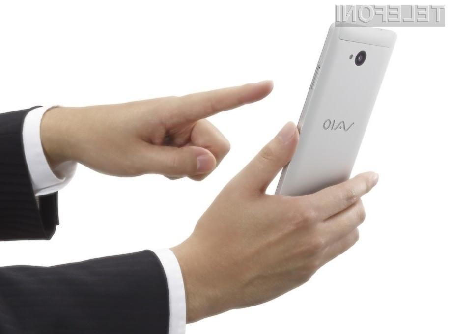 Mobilni telefon VAIO Phone Biz se bo zagotovo prikupil uporabnikom storitev mobilne telefonije.