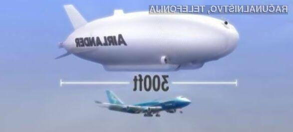 Do konca leta 2018 pa bo na voljo 12 zrakoplov.Airlander 10.
