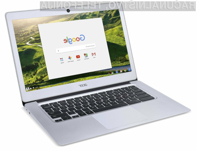 Prenosnik Acer Chromebook 14 se vam bo zagotovo takoj prikupil!