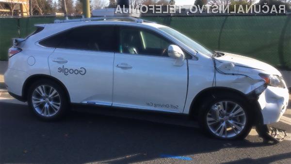 Na srečo jo je v prometni nesreči Googlovega samovozečega avtomobila skupila le pločevina.