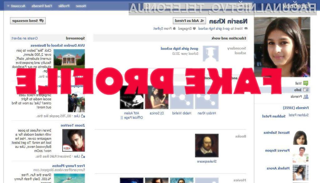 Uporabnikom lažnih profilov na Facebooku se bo trda predla!