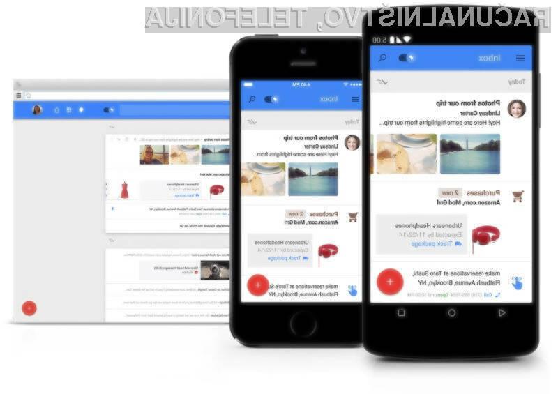 Novi mobilni Google Inbox nam bo pomagal pri obvladovanju množice elektronskih sporočil.
