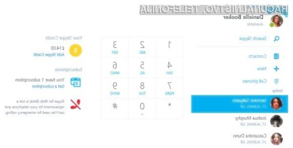 Skype for Web je združljiv z vsemi priljubljenimi operacijskimi sistemi in spletnimi brskalniki!