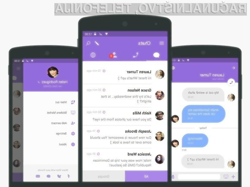 Novi Viber bo na voljo za uporabnike mobilnih naprav Android in iOS ter osebnih računalnikov Windows in MacOS.