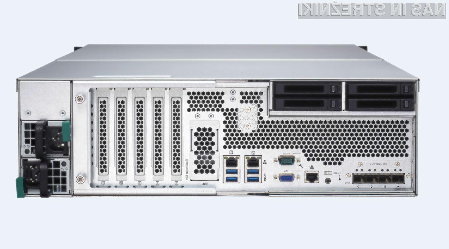 Pri strežniku TDS-16489U gre za inovativno rešitev za zahtevna podjetja, saj združuje aplikativni in podatkovni strežnik v enem ohišju.