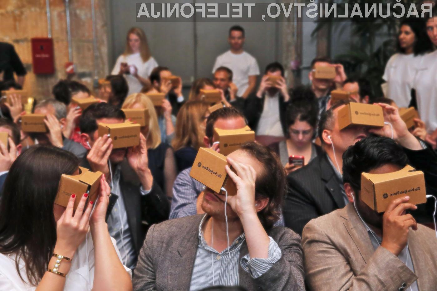 Očala Google Cardboard so kljub izjemno preprosti zasnovi nadvse priljubljena med ljubitelji navidezne resničnosti.