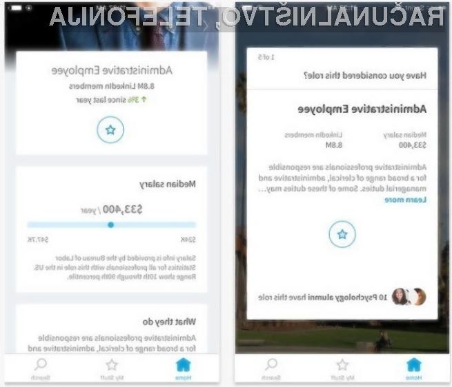 Mobilna aplikacije LinkedIn Students je bila pripravljena po meri študentov.