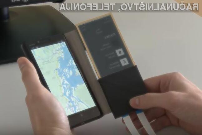 Microsoftov pametni etui z zaslonom bi lahko imel pomembno vlogo pri načrtovanju pametnih mobilnih telefonov prihodnosti.