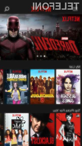 Netflix sedaj lahko porabi precej manj mobilnega podatkovnega prometa, kot ga še pred kratkim.